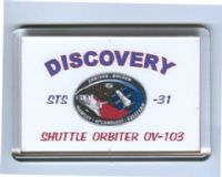 NASA STS-31 Discovery Space Shuttle Fridge Magnet